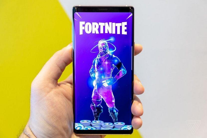 Fortnite on a phone