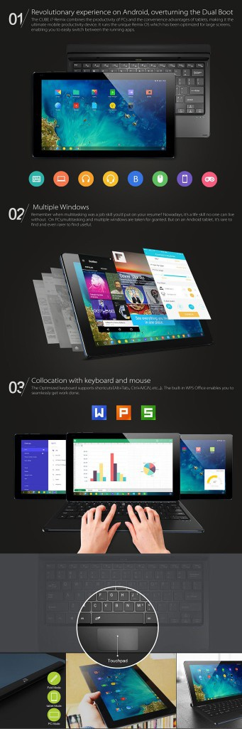 """remix-os-1 """"width ="""" 341 """"height ="""" 1024 """"srcset ="""" https://www.funzen.net/wp-content/uploads/2019/10/1572494763_808_Remix-OS-1.5-based-on-Android-Lollipop-now-available-for.jpg 341w, https: // tabletzona.es/app/uploads/2015/07/remix-os-1-100x300.jpg 100w, https://tabletzona.es/app/uploads/2015/07/remix-os-1-111x332.jpg 111w, https://tabletzona.es/app/uploads/2015/07/remix-os-1.jpg 1000w """"sizes ="""" (max-width: 341px) 100vw, 341px """"/></p> <p>Although some months ago, the developers said that Remix OS was still very green (practically ?giving away? the Jide Ultra Remix tablet for a group of users to help detect operating system errors), the truth is that it has evolved to Great speed <strong>With version 1.5 leave Android 4.4 Kitkat behind and welcome Lollipop</strong> as a base for Remix OS. The complete list of changes is as follows:</p> <ul> <li>Added: open notifications by sliding down anywhere on the screen</li> <li>Fixed: empty folders automatically disappear</li> <li>Fixed: When opening the desktop application folder, the folder closes automatically</li> <li>Fixed: the bug for which a system failure occurred when setting the password</li> <li>Improvement: more applications are now compatible with phone mode</li> <li>Improved: when starting the wizard finishes running, the system response to the black screen problem is too slow</li> <li>New feature: browser and email support copy, paste and search functions</li> <li>New feature: the caps lock indicator appears in the upper right of the status bar</li> <li>New feature: an application in the taskbar, dragging it out of the taskbar when it is open closes the application and dragging it out of the taskbar when it is closed removes it from the taskbar</li> <li>New feature: keyboard supports firmware updates via OTA</li> <li>New feature: application windows have variable size in phone mode (Experimental)</li> <li>New feature: open applications in phone mode can be set (Experimental)</li> </ul> <p>The update can be carr"""