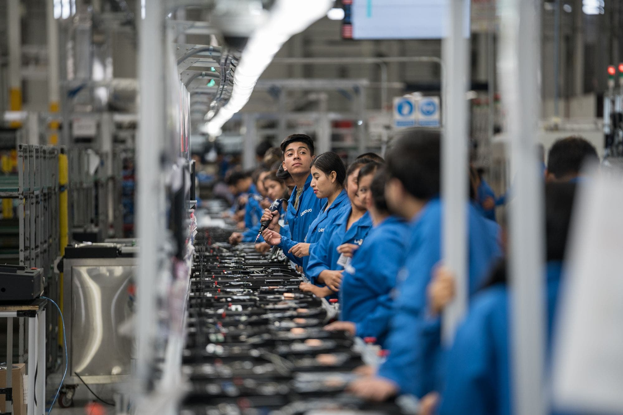 We visited the largest computer factory in the Americas