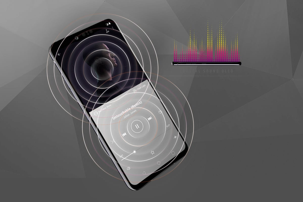 Crystal Sound Oled of the LG G8 ThinQ