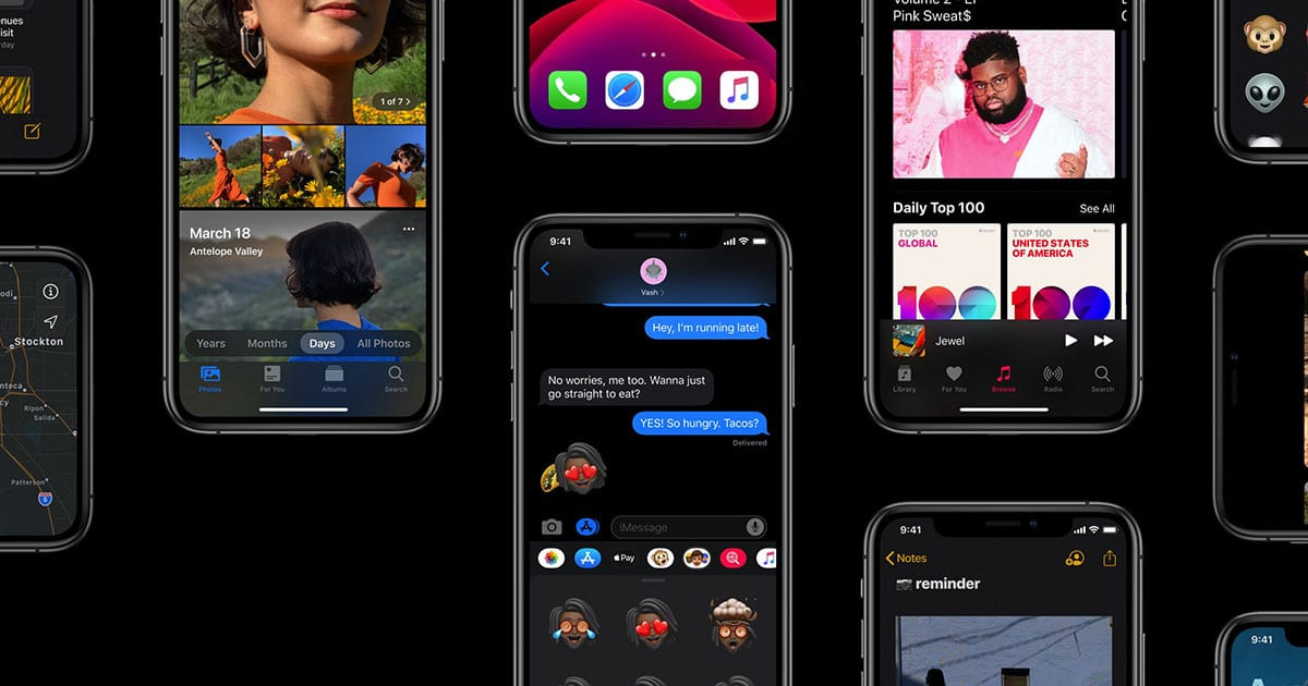 ios 13 iPhone dark mode