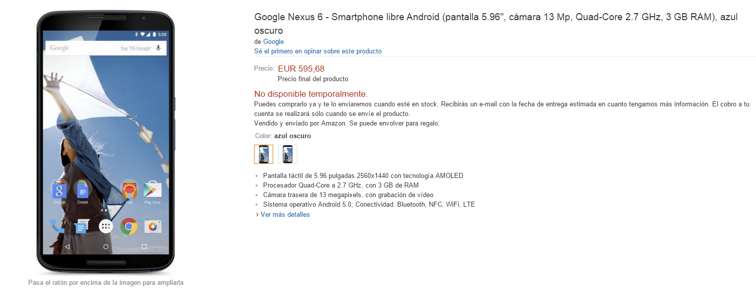 "nexus6amazon ""width ="" 700 ""height ="" 282 ""srcset ="" https://www.funzen.net/wp-content/uploads/2019/10/Google-Nexus-6-for-sale-on-Amazon-Spain.jpg 1500w, https://www.proandroid.com/ wp-content / uploads / 2014/11 / nexus6amazon-300x121.jpg 300w, https://www.proandroid.com/wp-content/uploads/2014/11/nexus6amazon-1024x413.jpg 1024w, https: // www. proandroid.com/wp-content/uploads/2014/11/nexus6amazon-624x251.jpg 624w ""sizes ="" (max-width: 700px) 100vw, 700px ""/></p> <p style="