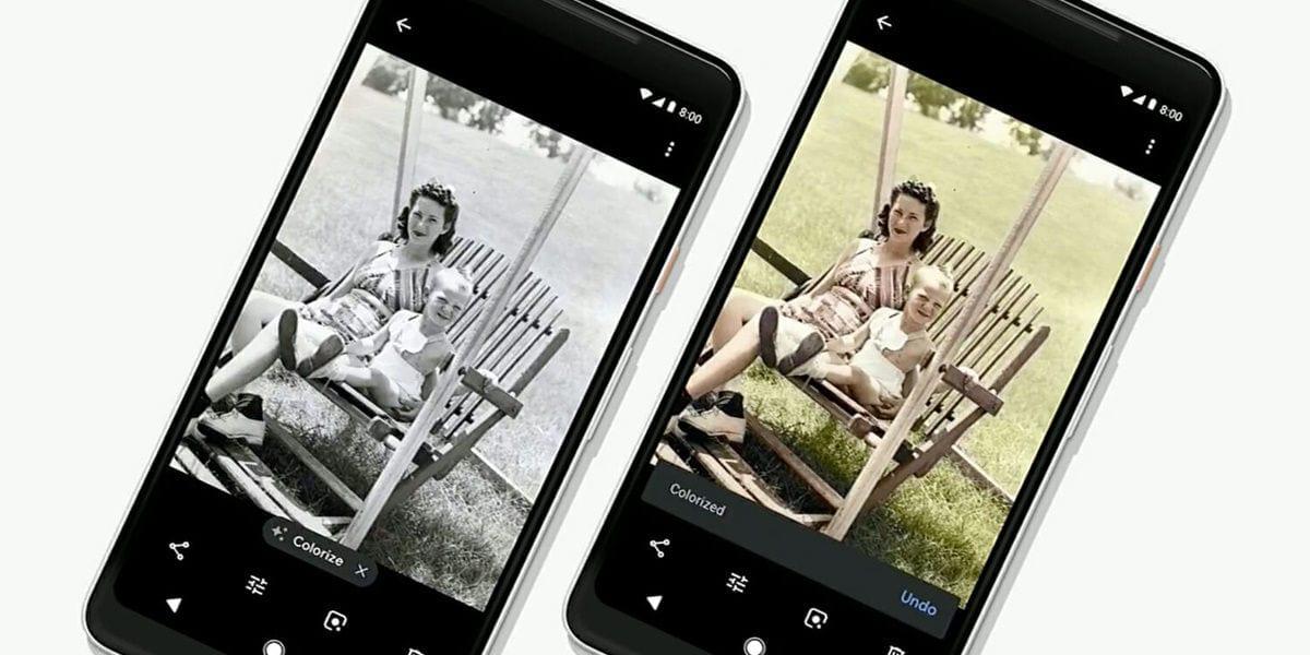 google photos you can color black and white photos