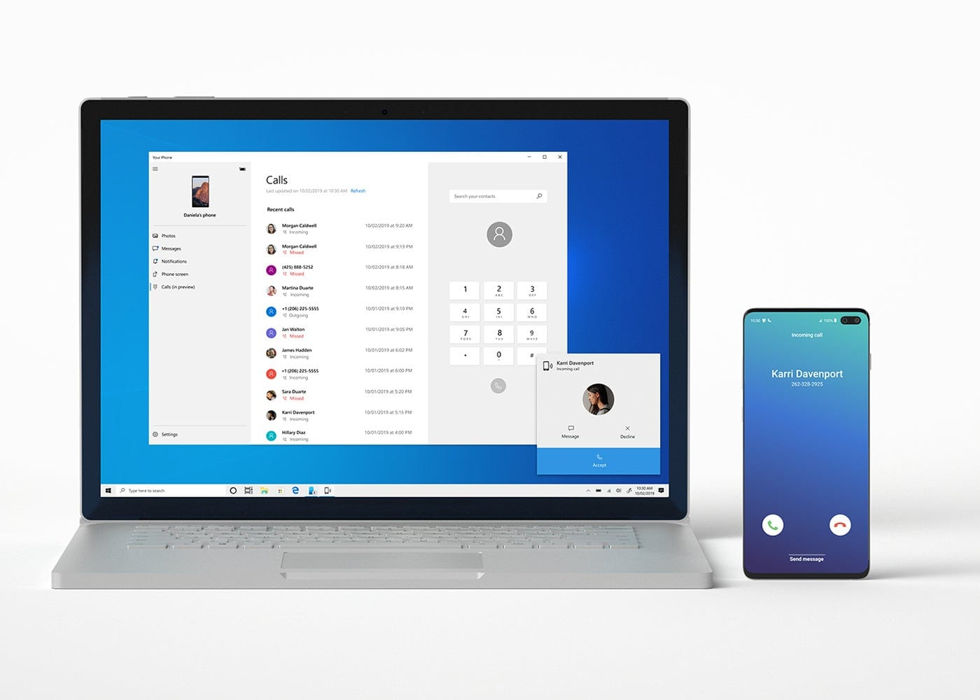 Calls from the Windows PC on Android