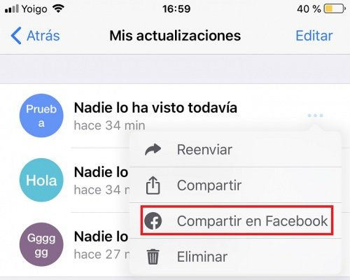 Image - How to share a WhatsApp Status in Facebook stories