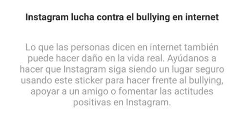 Image - Instagram launches a sticker to fight bullying