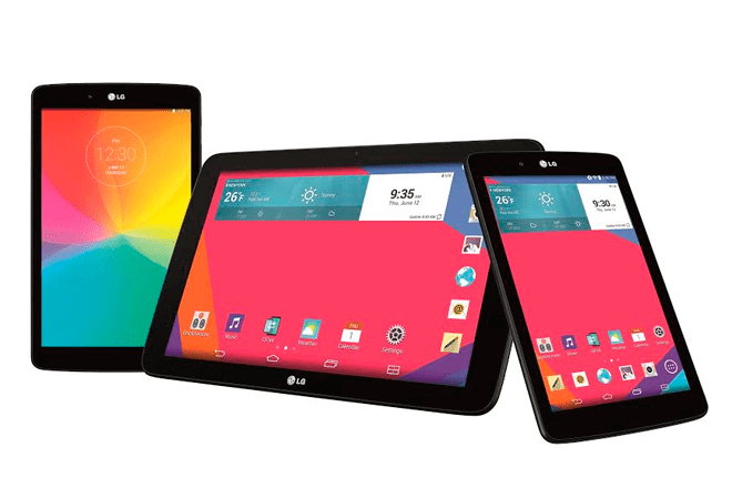 LG presents its G Pad range with a tro of tablets