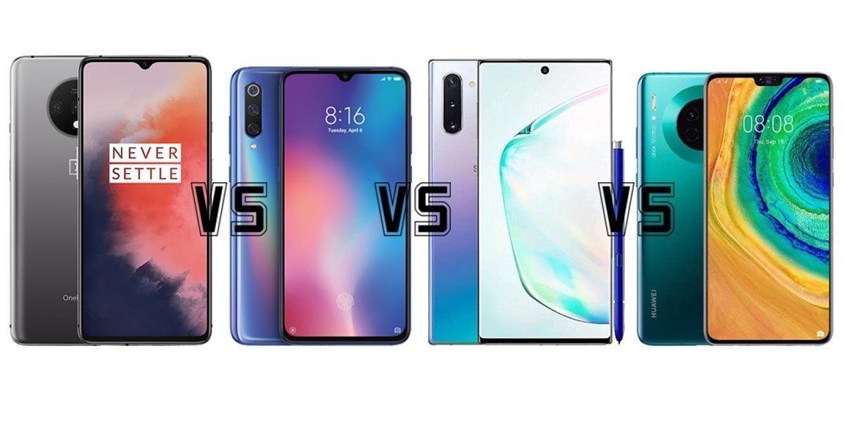 OnePlus 7T vs Xiaomi Mi 9 vs Galaxy Note 10 vs Huawei Mate 30