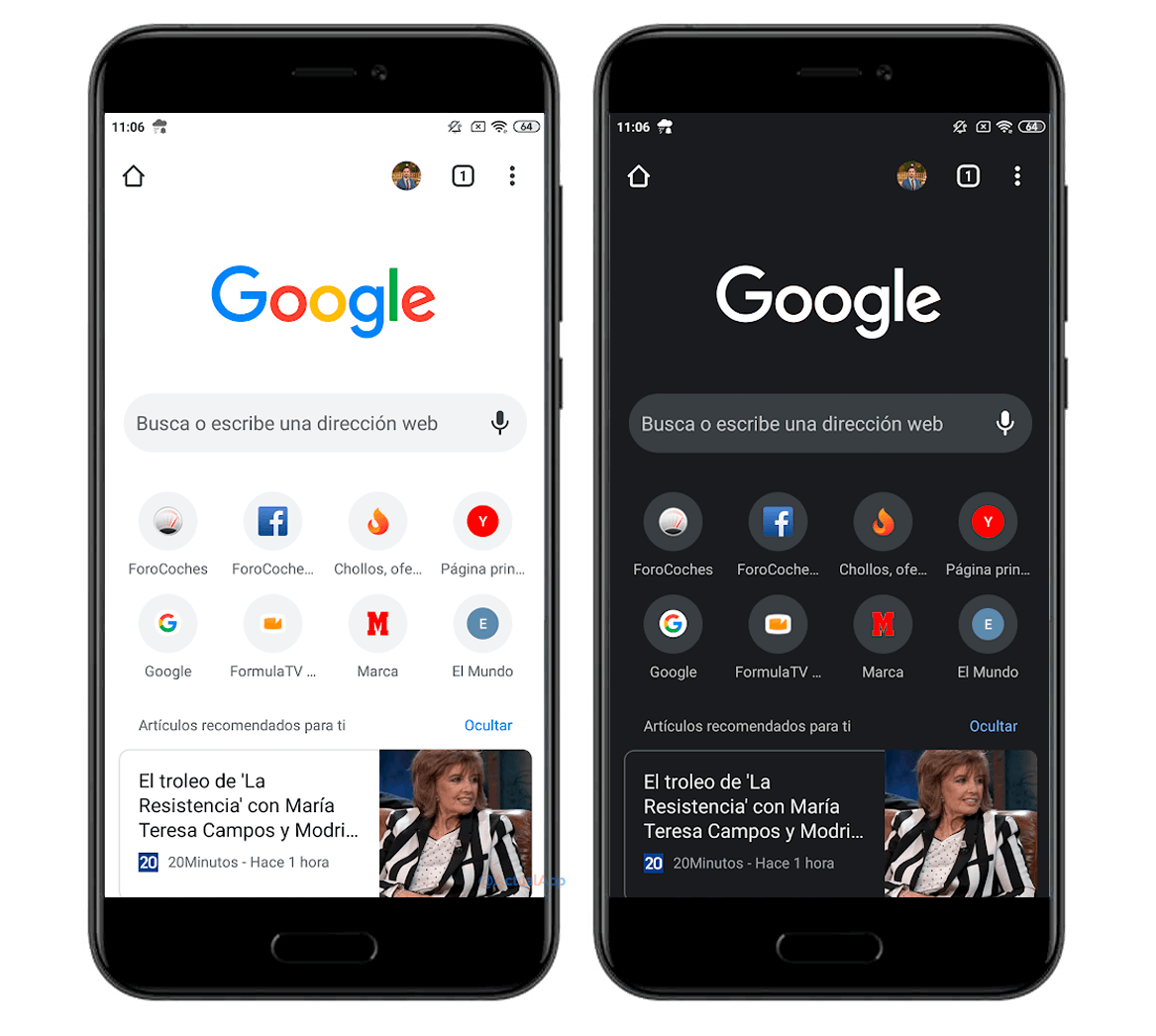 This Is The Dark Mode Of Google Chrome For Mobile That You Can Already Enable