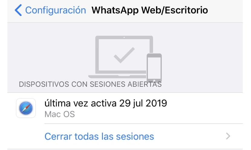 Close WhatsApp web sessions