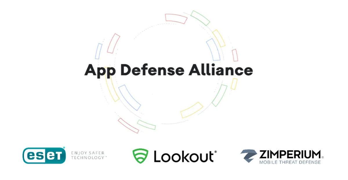 "App Defense Alliance Google platform in Play Store ""width ="" 1200 ""height ="" 623"