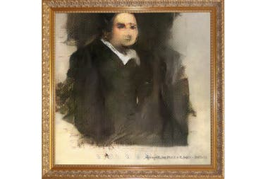 Portrait of Edmond Belamy, the first painting made by an algorithm that came to an auction