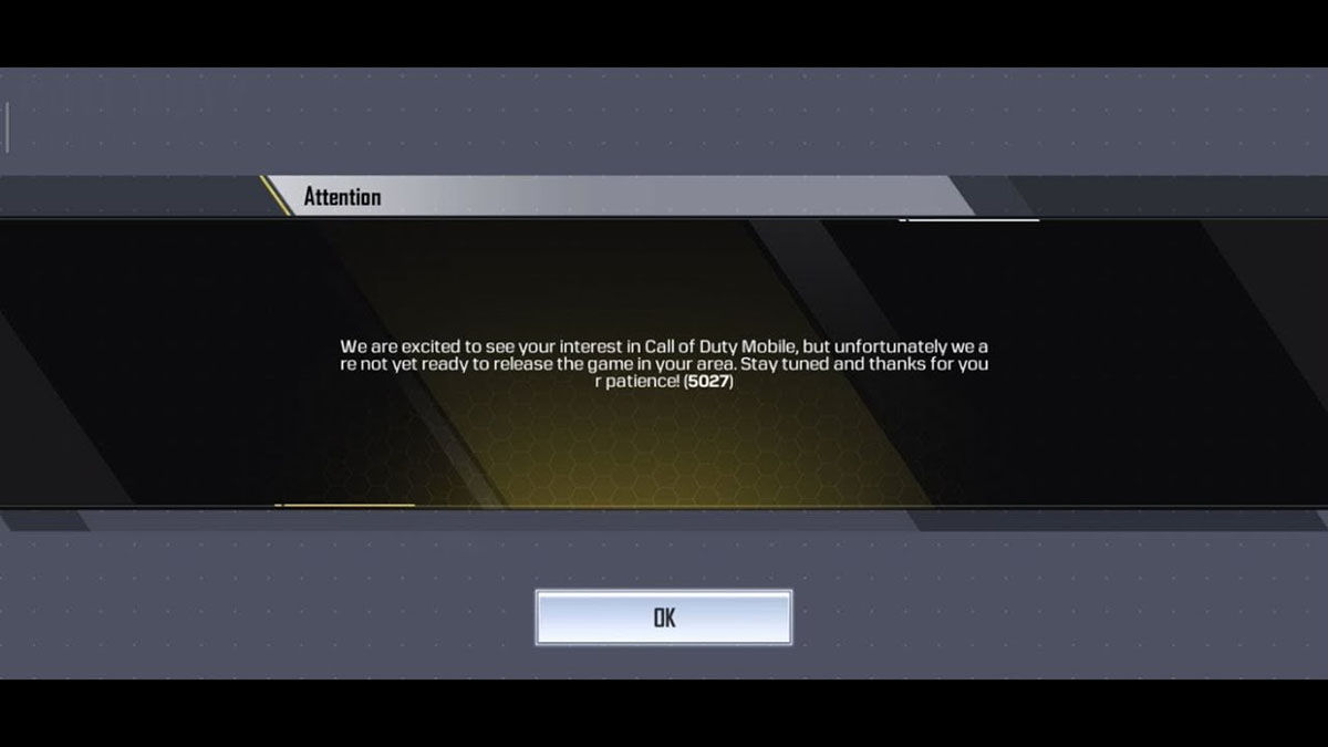 "Error 5027 Call of Duty Mobile ""width ="" 1200 ""height ="" 675"