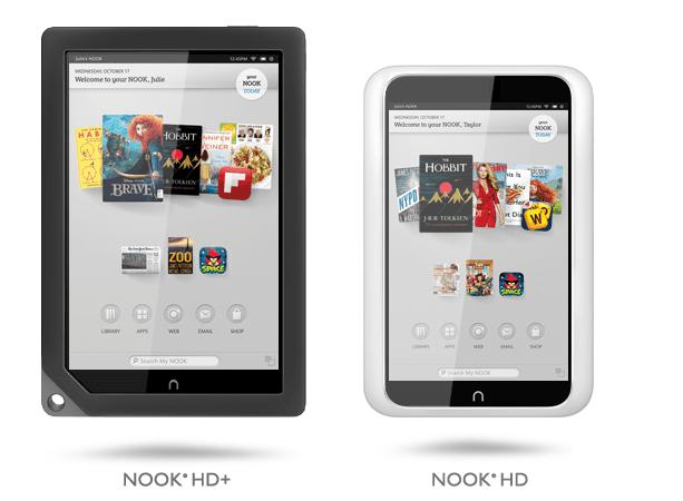 Nook HD y 9″ Nook HD+, las nuevas tablets de Barnes and Noble