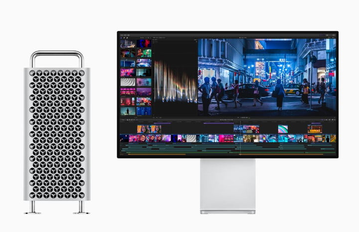 apple mac book pro and display screen xdr desktop and