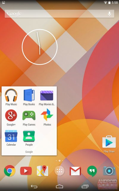 Android 4.5 icons