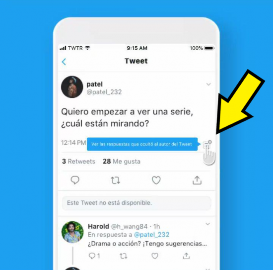 Image - Twitter now allows you to hide the responses to your tweets