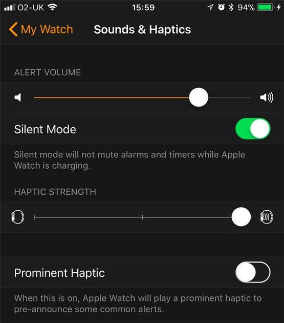 Trick 6. Silence your Apple Watch