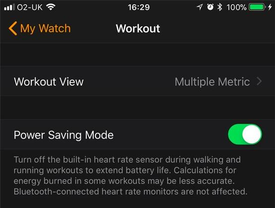 Tip 11. Activate the Save battery mode in Training