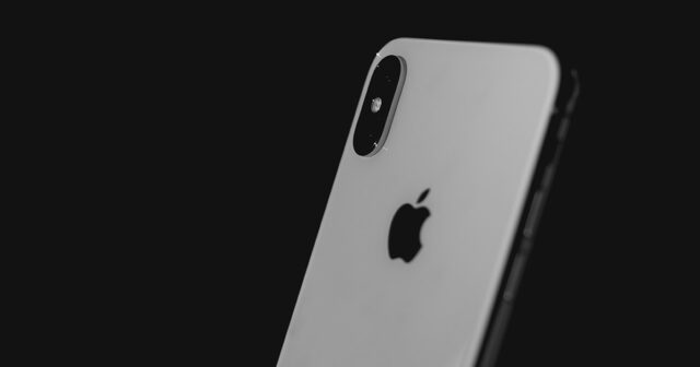 iPhone X XS White Silver Cover