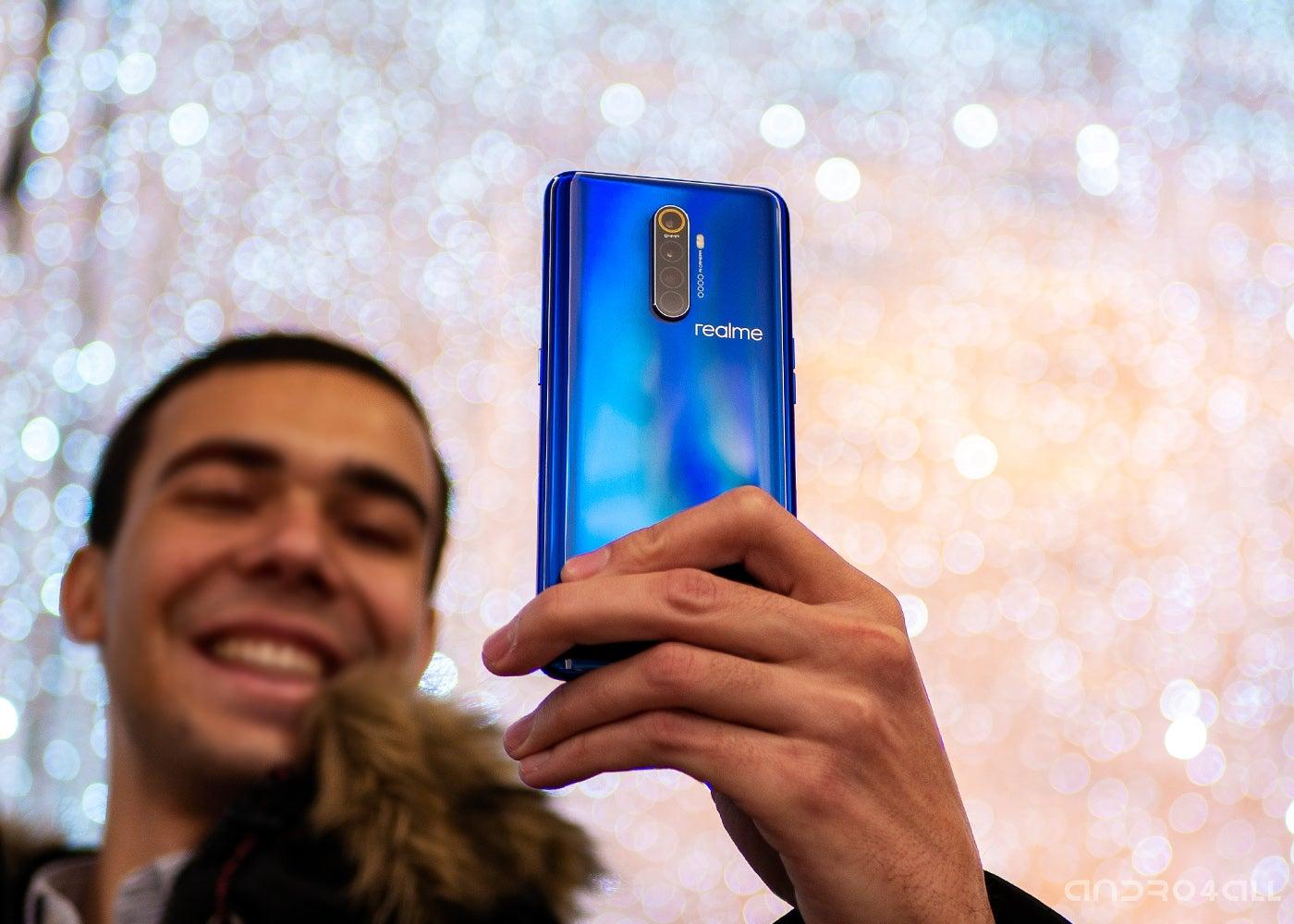 Realme X2 Pro, blue back