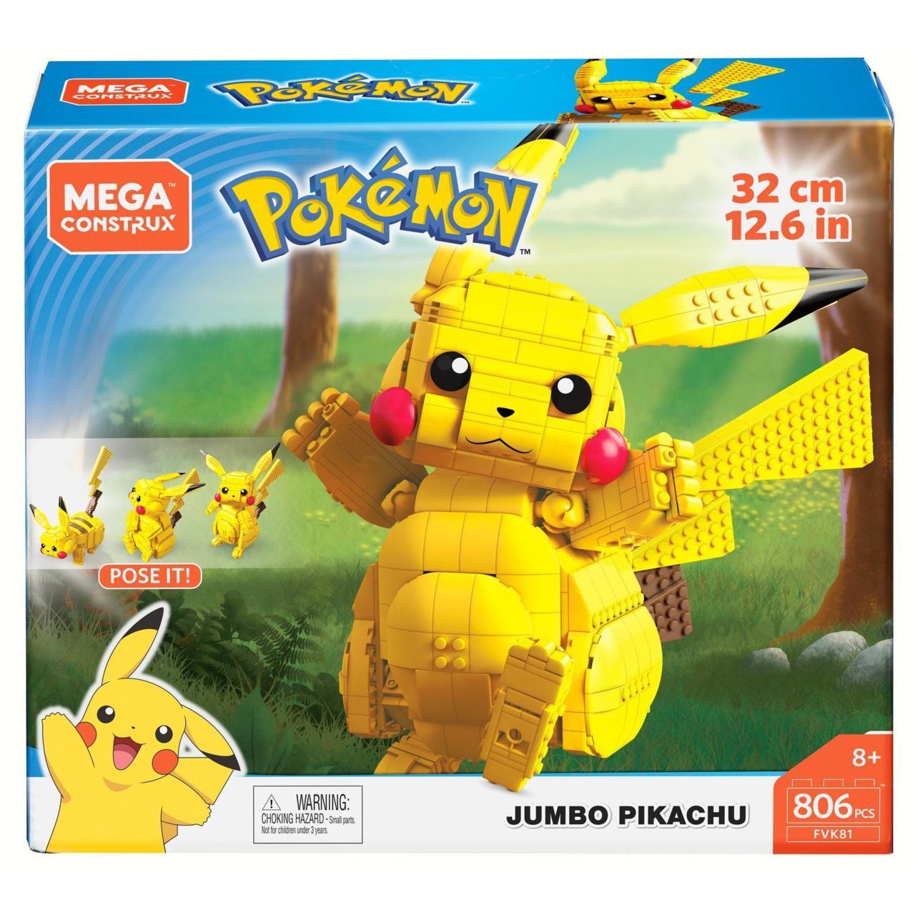 Mega Construx Pokemon: Jumbo Pikachu figure