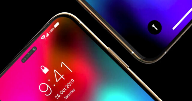 iPhone 12 face id concept