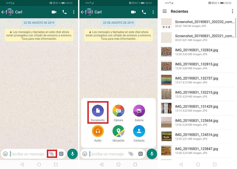 Whatsapp send photos without loss of quality