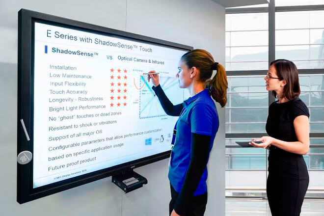 NEC announces large-format and very interactive multi-touch screens