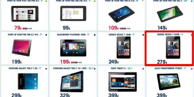 Nexus 7 de 32GB confirmada: disponibilidad y precio