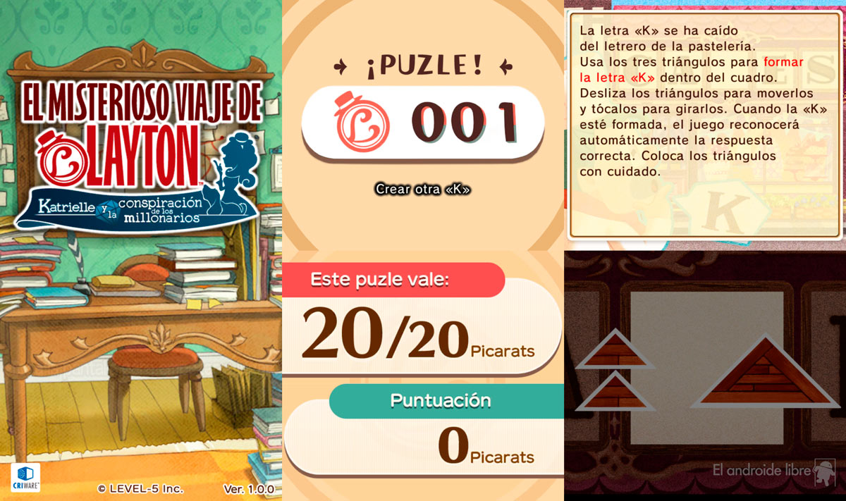 Android takes console with Layton's Mysterious Journey, a great game