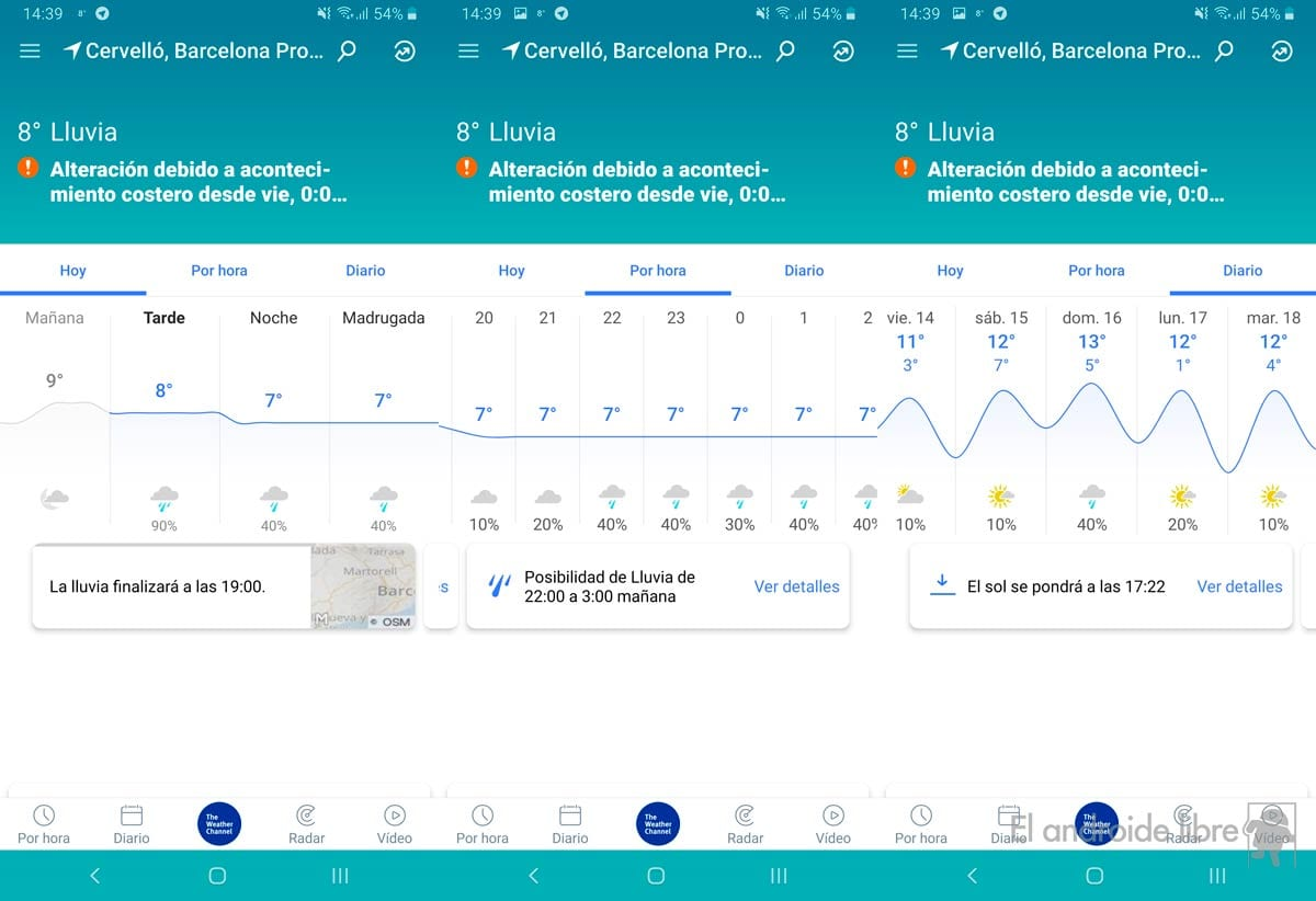 The best weather application is completely redesigned: new The Weather Channel