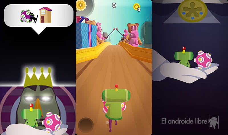 The world's most surreal endless runner is called Amazing Katamari Damacy