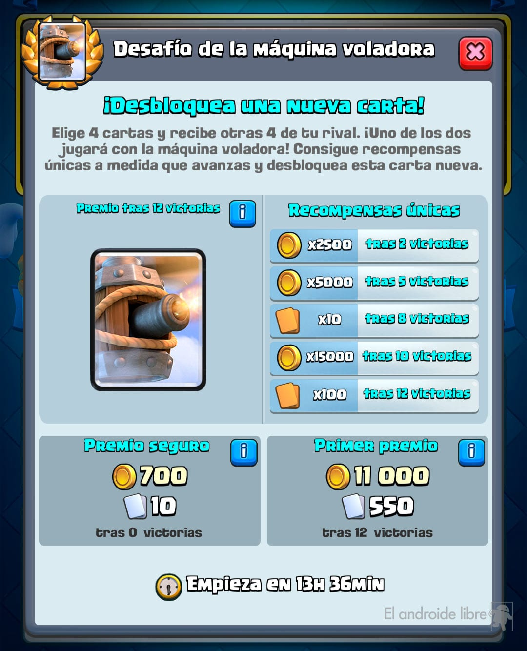 Try the new Clash Royale card with your Flying Machine challenge