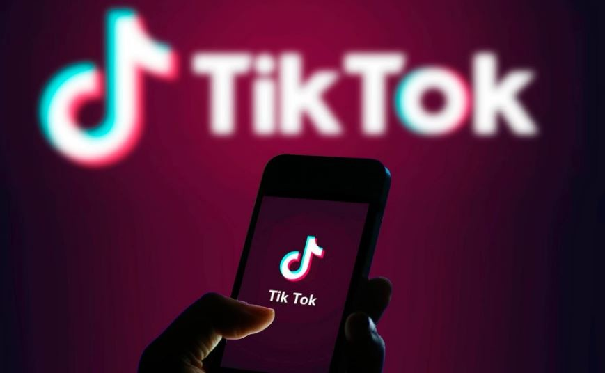 TikTok application running on a cell phone