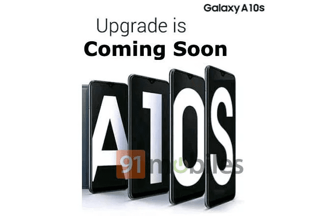 Samsung Galaxy A10s leaked poster