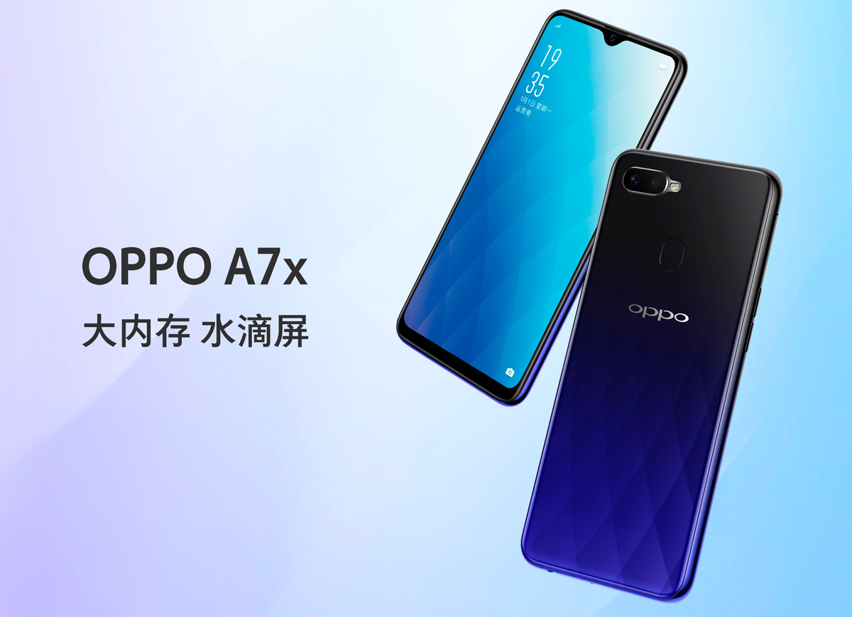 OPPO A7X, another mid-range elegant style with minimal notch