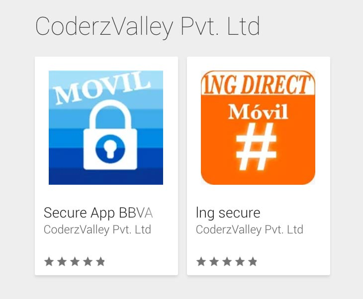Fake apps from banks in the Play Store