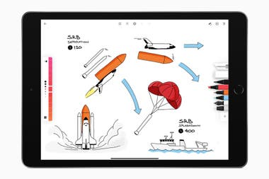 Moleskine Flow allows you to make illustrations on an iPad with various types of strokes and colors