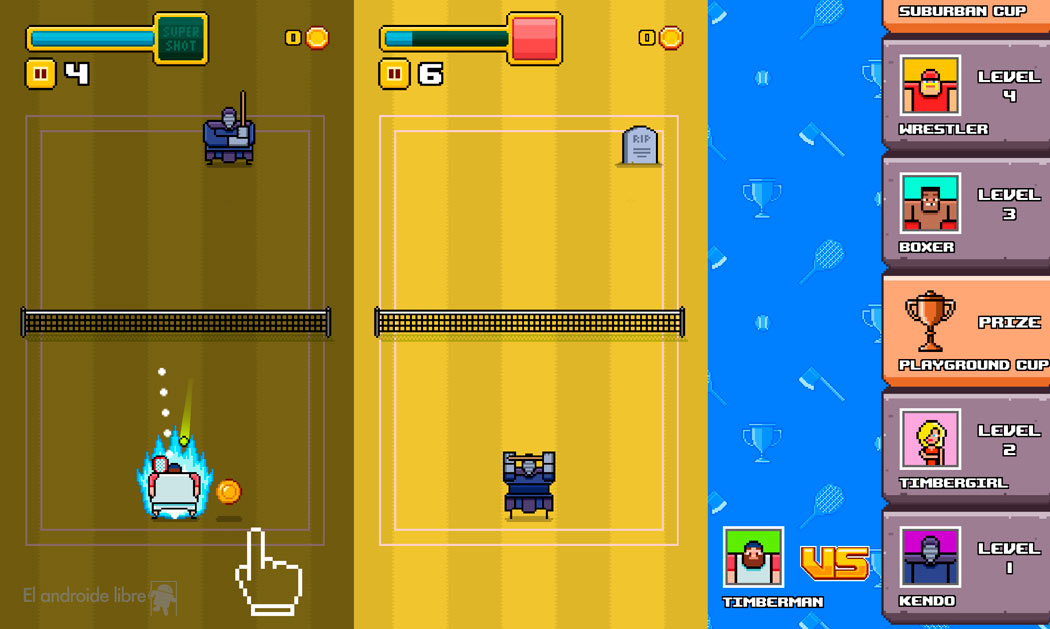 The most fun and pixelated tennis game: Timber Tennis