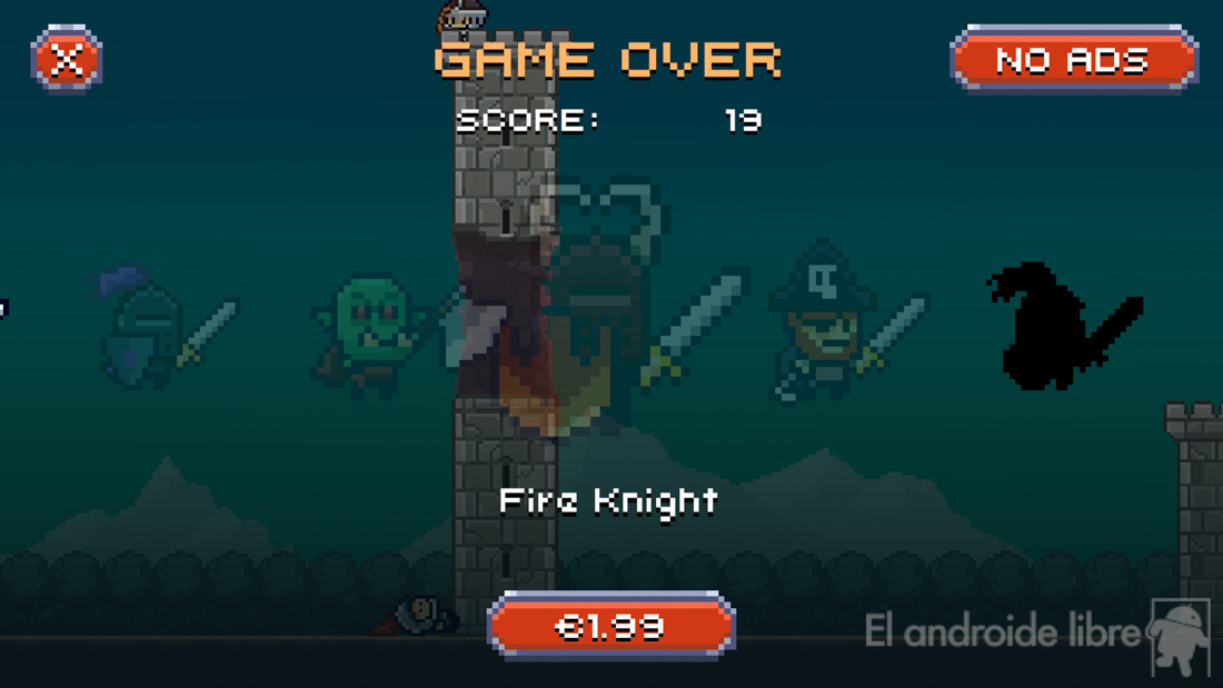 A platform game, with retro and endless aesthetics: Super Dashy Knight