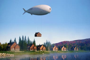 """This is one of the """"flying whale"""" of the French firm Flying Whales"""