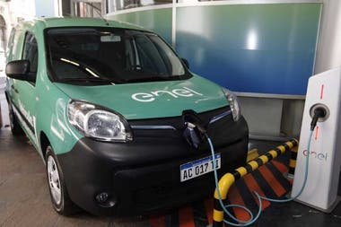 A charging station for an electric car
