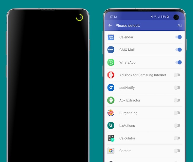 """led notifications samsung galaxy s10 """"width ="""" 800 """"height ="""" 672"""