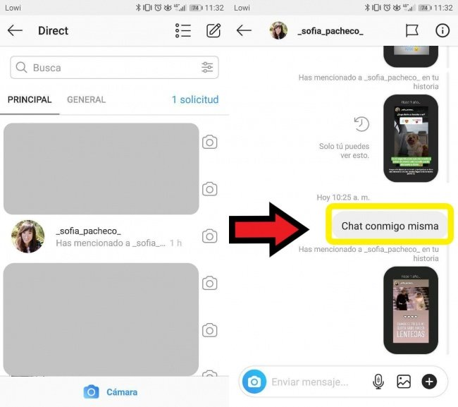 Image - How to create a chat with yourself on Instagram Direct