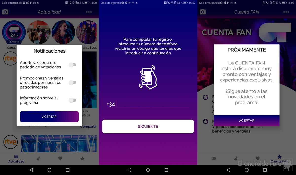 Follow Operation Triunfo with the official OT 2018 app for Android