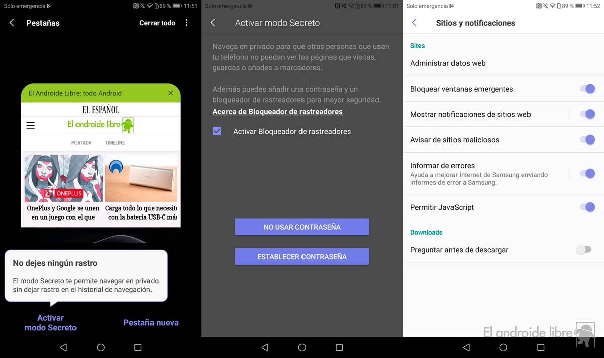 Try the new Samsung browser with design adapted to Android 9