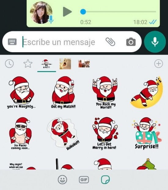 Image - 9 packs of Christmas stickers for WhatsApp