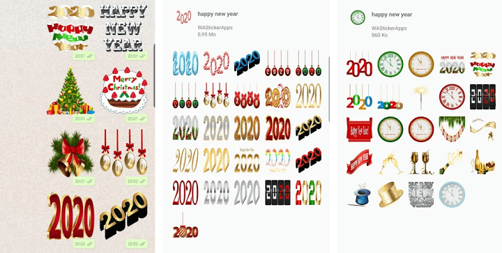 Image - 10 packs of New Year stickers for WhatsApp