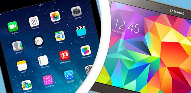 Galaxy Tab S iPad Air best screen
